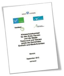 Position Bündnis 90/Die Grünen Grefrath zum Entwurf des Klimaschutzkonzepts