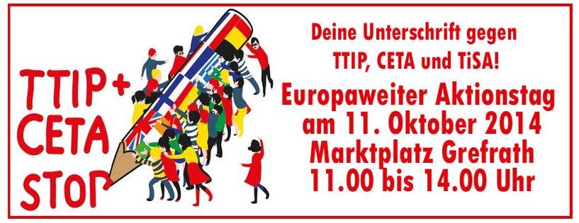 Deine Unterschrift gegen TTIP, CETA und TiSA