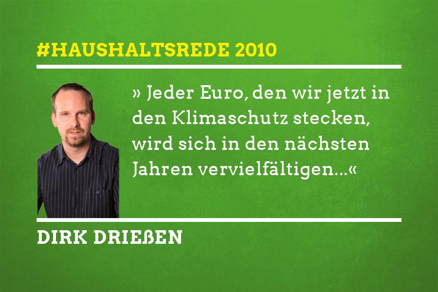 Haushaltsrede 2010