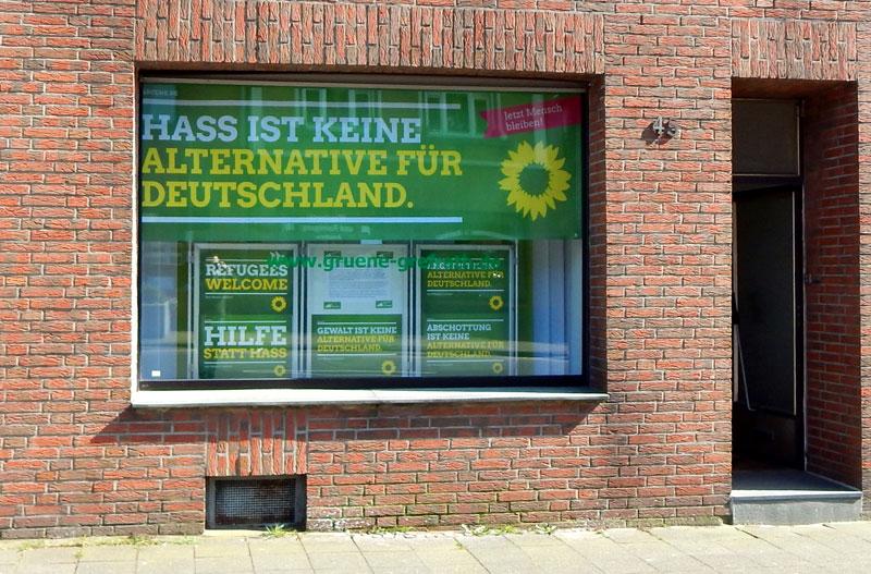 Keine Alternative für Deutschland – Aktionsfenster der Grefrather GRÜNEN