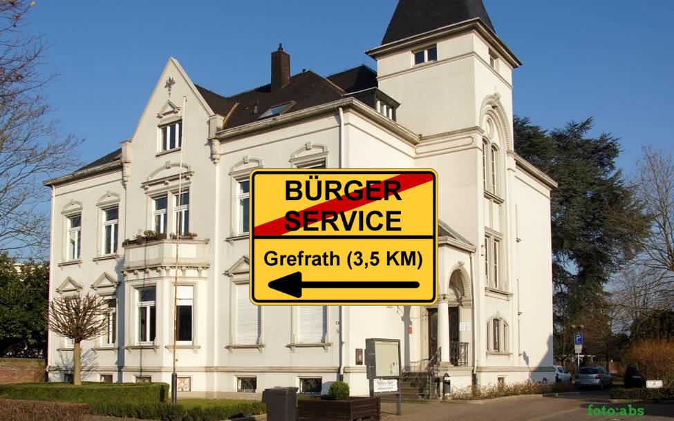 Bürgerservice im Rathaus Oedt soll geschlossen werden