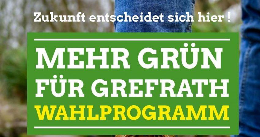 Wahlprogramm der Grefrather Grünen