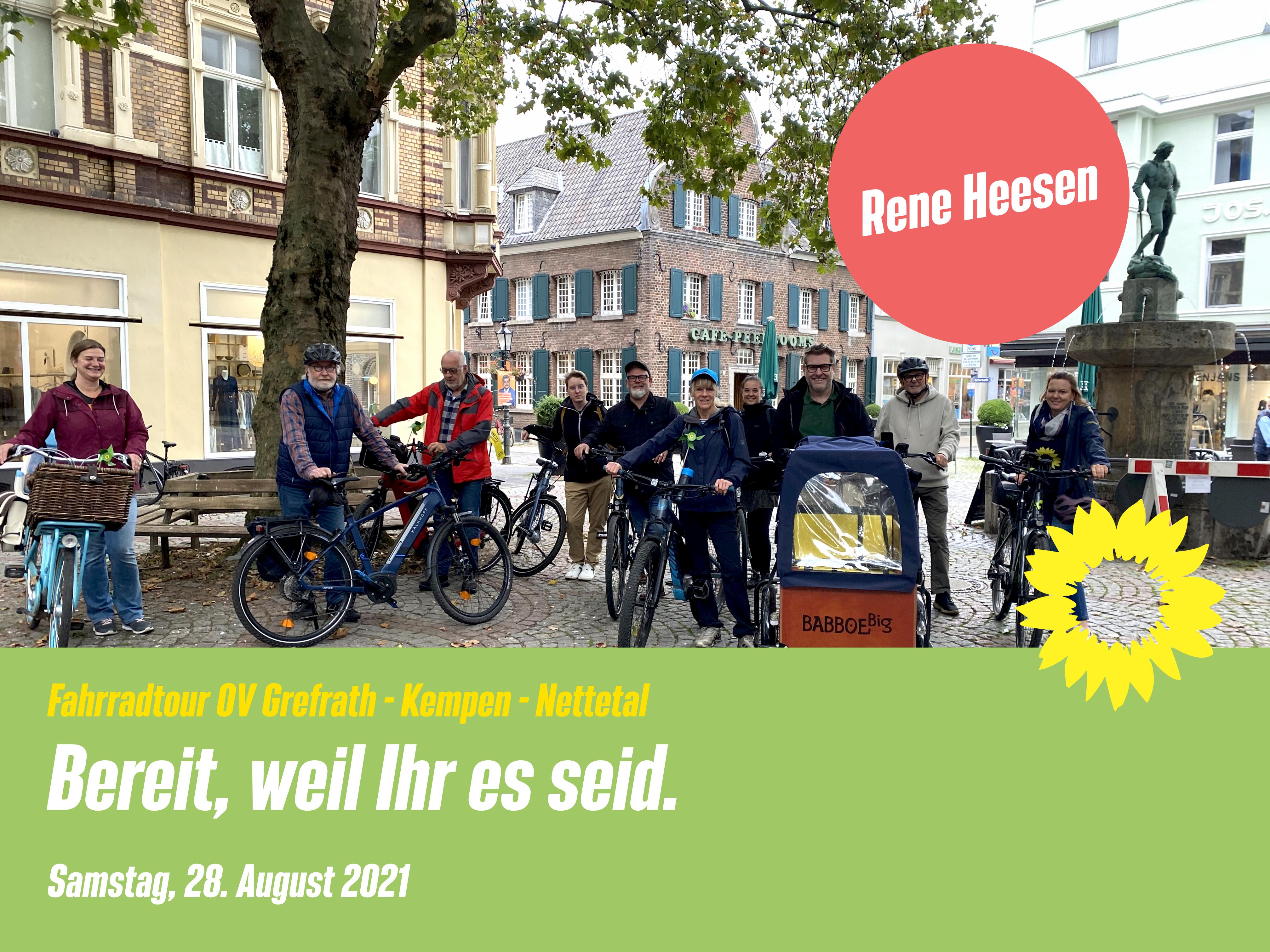 Fahrradtour für Rene Heesen