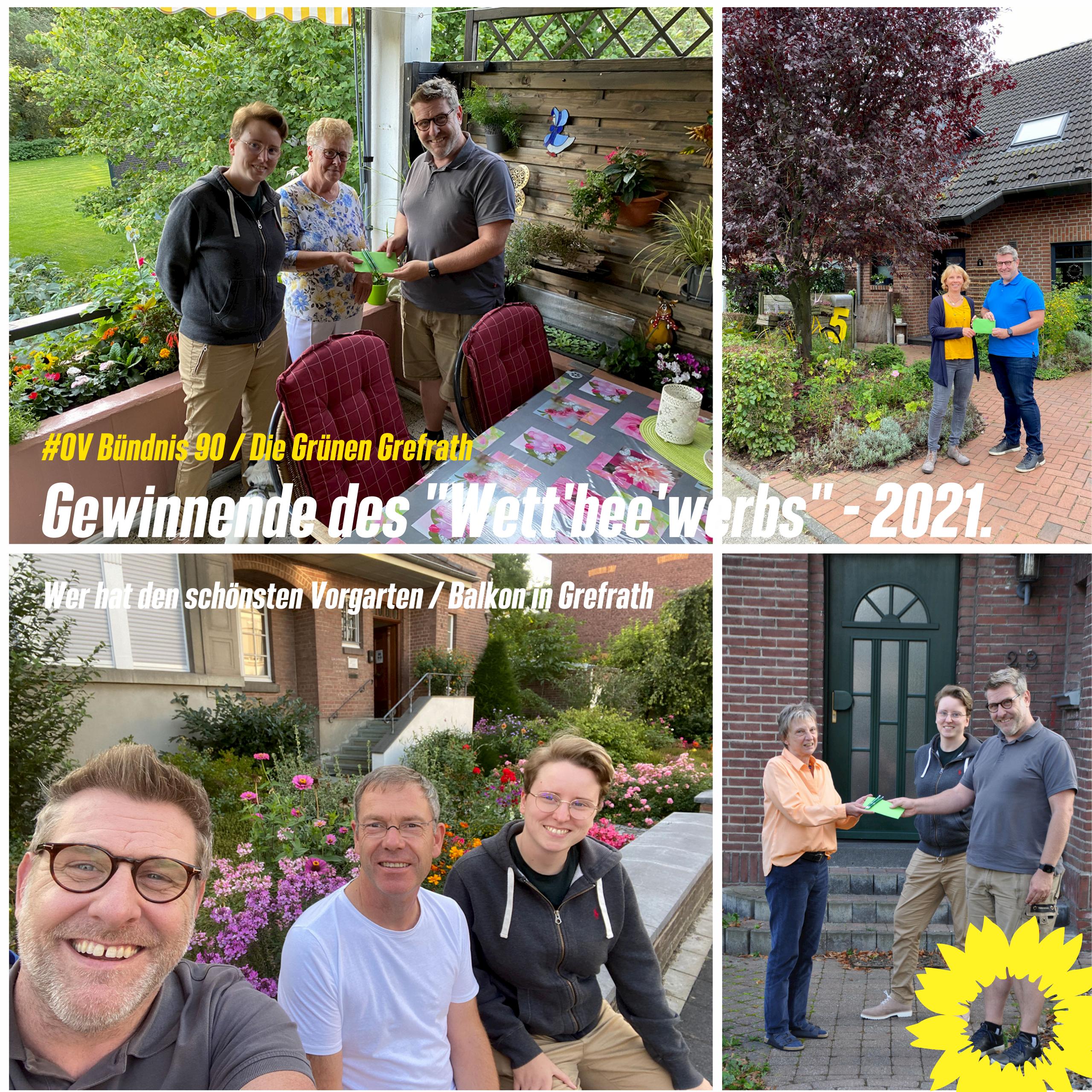 Gewinnende des Wett'bee'werbs schönster Vorgarten / Balkon